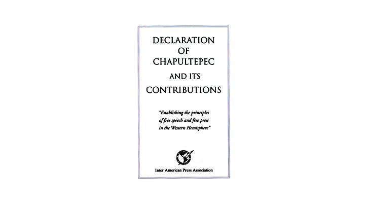 Declaration of Chapultepec and Its Contributors