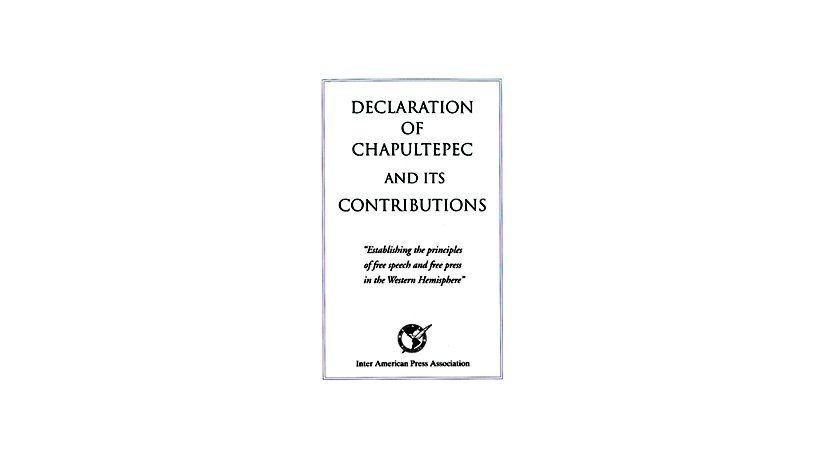 Declaration of Chapultepec and Its Contributors