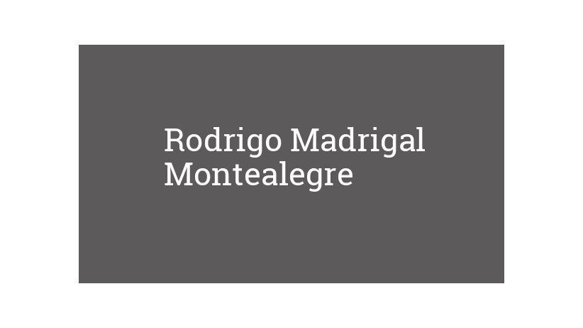 Rodrigo Madrigal Montealegre