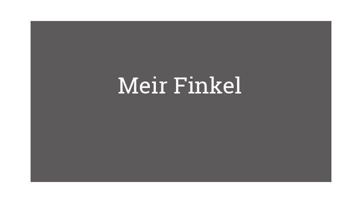 Meir Finkel