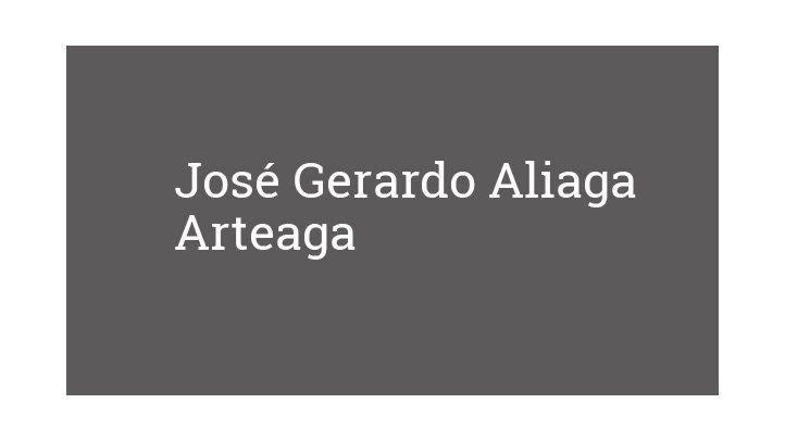 José Gerardo Aliaga Arteaga