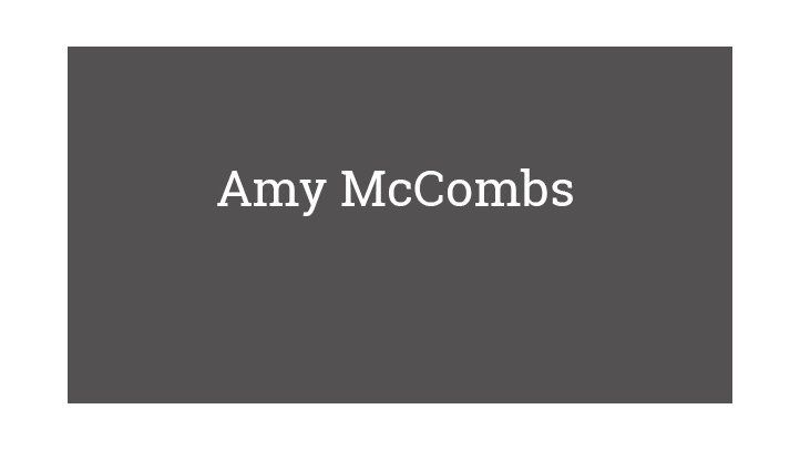 Amy McCombs