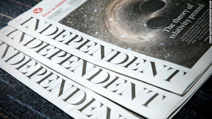 Diario británico renuncia al papel