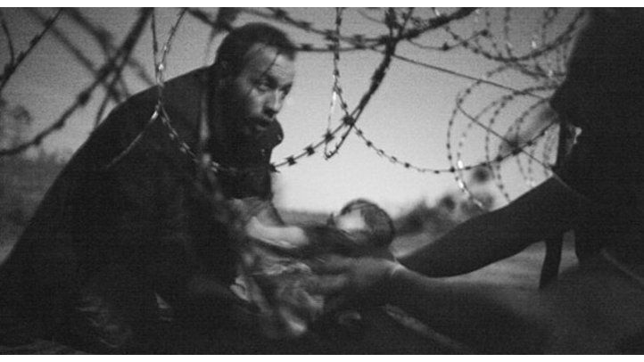 Foto bebé refugiado premio mundial fotografía