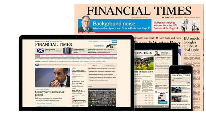 Financial Times: ingresos digitales superan al papel