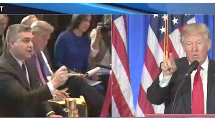 Trump calla en rueda de prensa a periodista de CNN