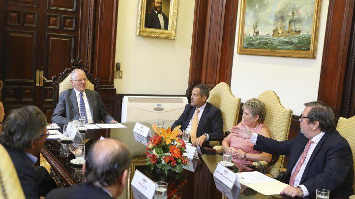 Delegación de la SIP visitó al Presidente Kuczynski