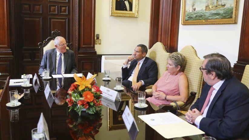 Perú: Delegación de la SIP se reunió en Lima con el Presidente Kuczynski