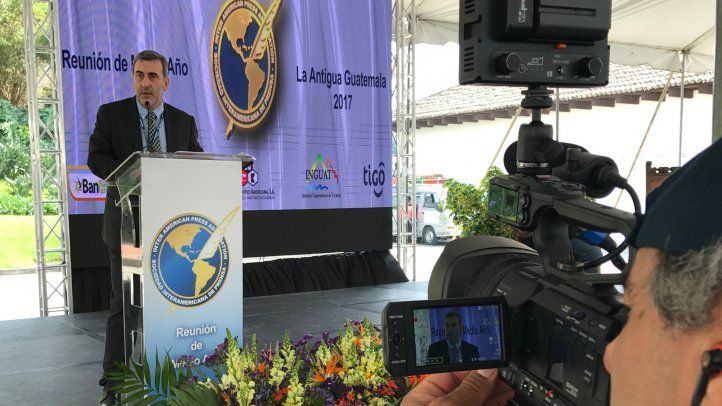 Lanza destacó el histórico trabajo de la SIP a favor de la institucionalidad