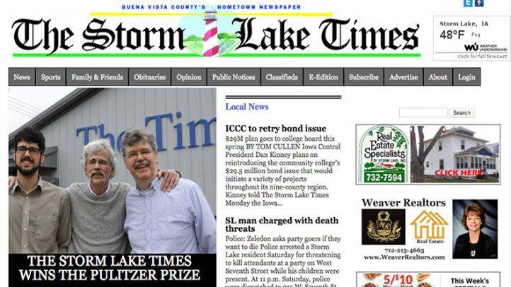 El diario chico que conquistó el Pulitzer con sus editoriales
