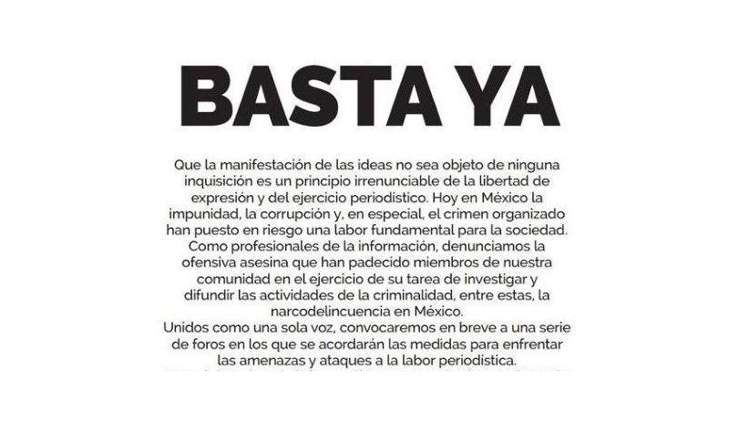 México: ¡Basta ya!