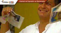 Rafael Correa - rompe periódico