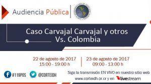 Audiencia en la Corte IDH por justicia en el caso de Nelson Carvajal