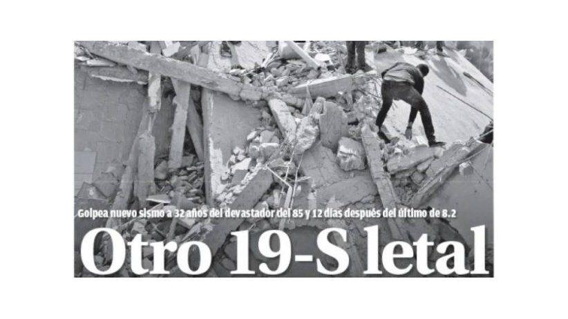 Terremoto en México: Las portadas del dolor y la solidaridad