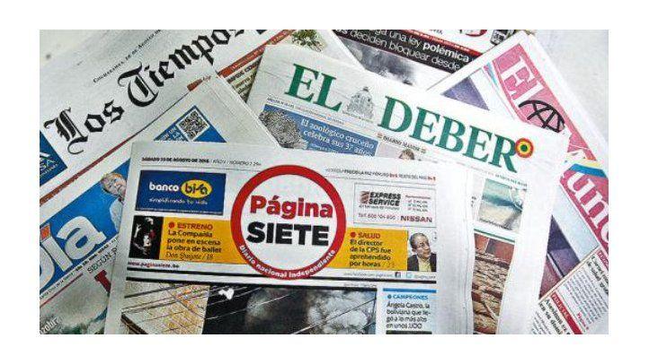 SIP critica a Congreso de Bolivia por crear nuevo delito de prensa