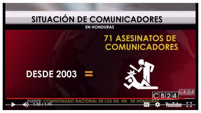 Honduras: reclaman compromiso político para protección de periodistas