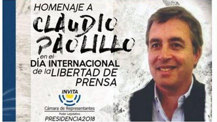 Homenaje a Claudio Paolillo - Cámara de Representantes del Uruguay