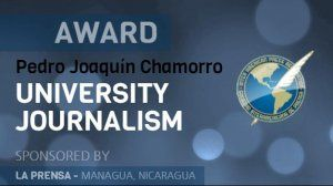 University Journalism award, a new prize for students in the Americas