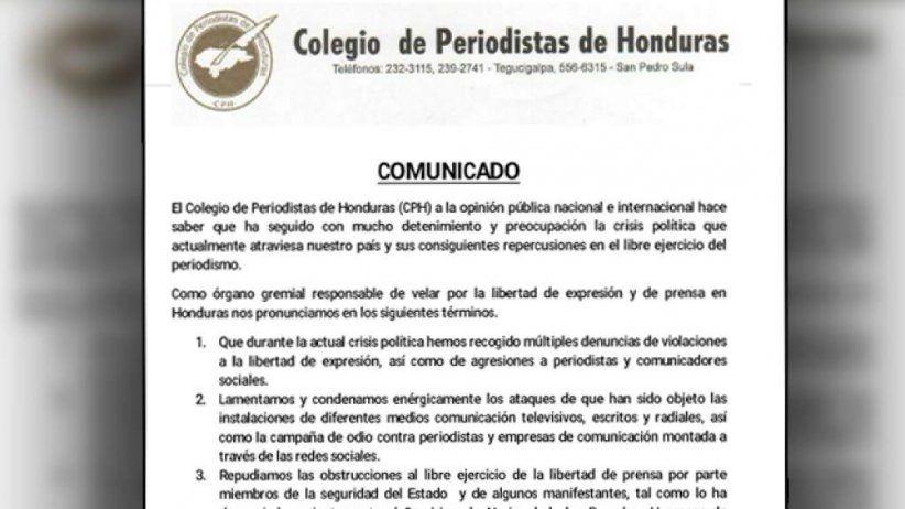 Honduras: IAPA calls for guarantees for the press