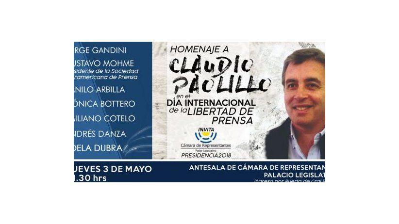 Homage to Claudio Paolillo at Uruguayan Chamber of Deputies