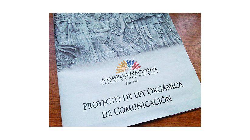 Parlamento de Ecuador votará proyecto de Ley de Comunicación