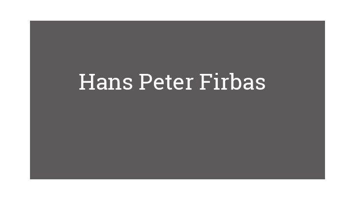 Hans Peter Firbas
