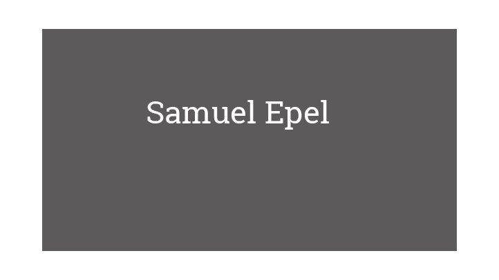 Samuel Epel