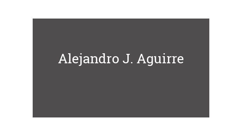 Alejandro J. Aguirre