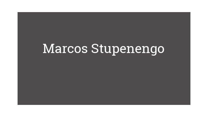 Marcos Stupenengo