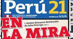 Preocupa demanda contra el diario Perú 21