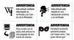 Stickers para advertir errores periodísticos