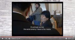 Documental del gobierno de Bolivia ataca a la prensa