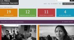 Portal registra violaciones a la libertad de prensa en EEUU