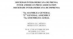 72a Asamblea General de la Sociedad Interamericana de Prensa, Ciudad de México, México, 2016