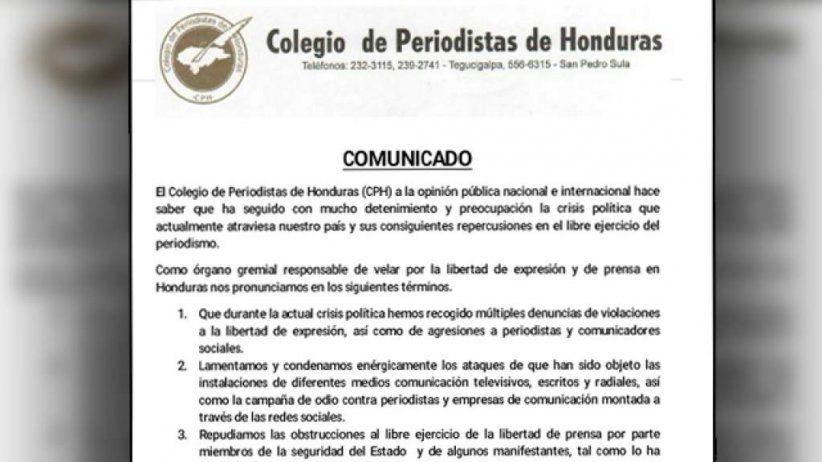 Honduras: La SIP pide garantías para el Periodismo