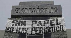 Prensa venezolana sigue sin papel