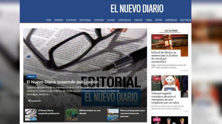 Cese de publicación de El Nuevo Diario de Nicaragua, una vergüenza para el mundo libre