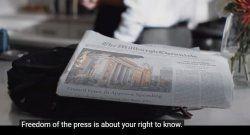 En Estados Unidos, campaña nacional para proteger la libertad de prensa