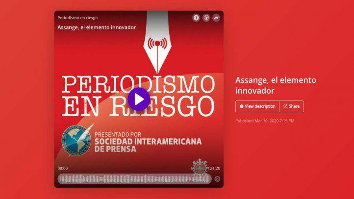 Habla la defensa de Julian Assange en nuevo podcast de la serie Periodismo en Riesgo