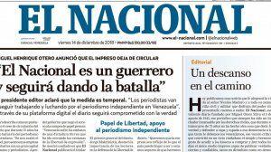 SIP califica de expoliación y atropello la millonaria sentencia contra El Nacional