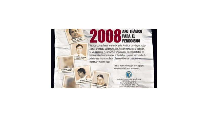2008, año trágico para el periodismo
