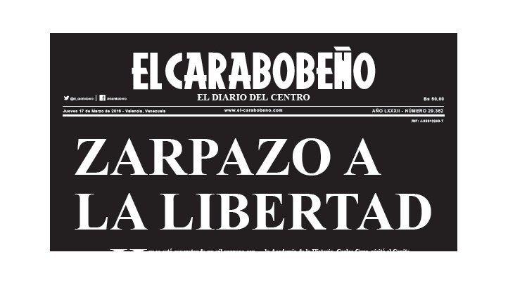 Venezuela: El Carabobeño last print edition