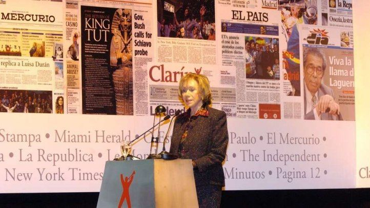 Condolences on the death of Ernestina Herrera de Noble of Clarín Group