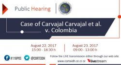 Hearing at IAHR Court for justice in the case of Nelson Carvajal