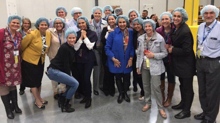 Os delegados do SIP realizam uma visita solidária